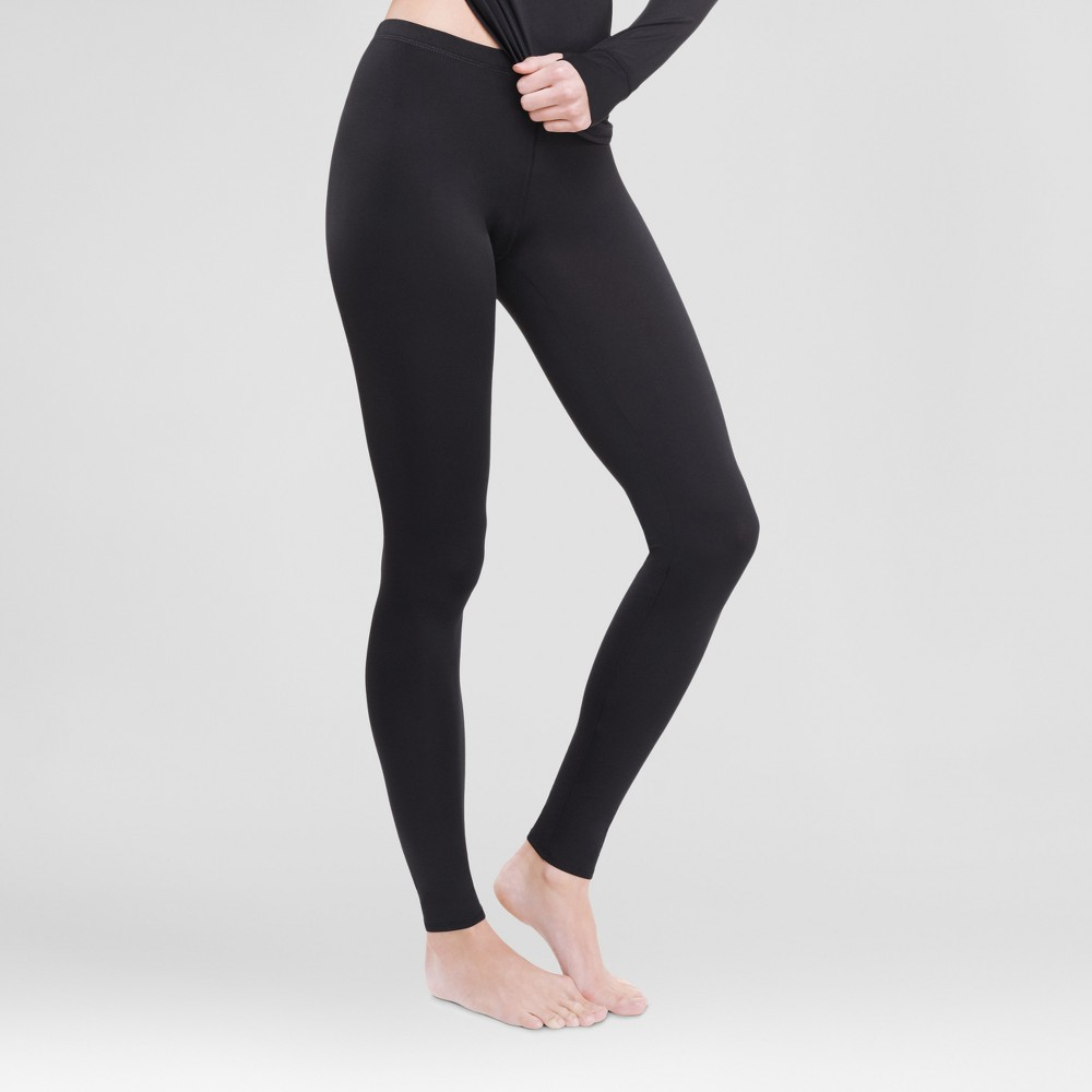 Warm Essentials by Cuddl Dudds Womens Thermal Active Leggings Black S