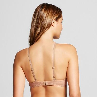 Women's Favorite Lightly Lined Lace Demi Bra Mocha Brown 38D