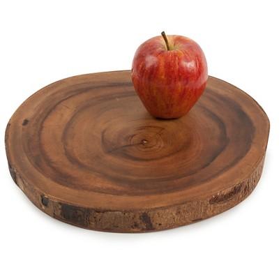 Core Acacia Round Bark Edge Serving Board