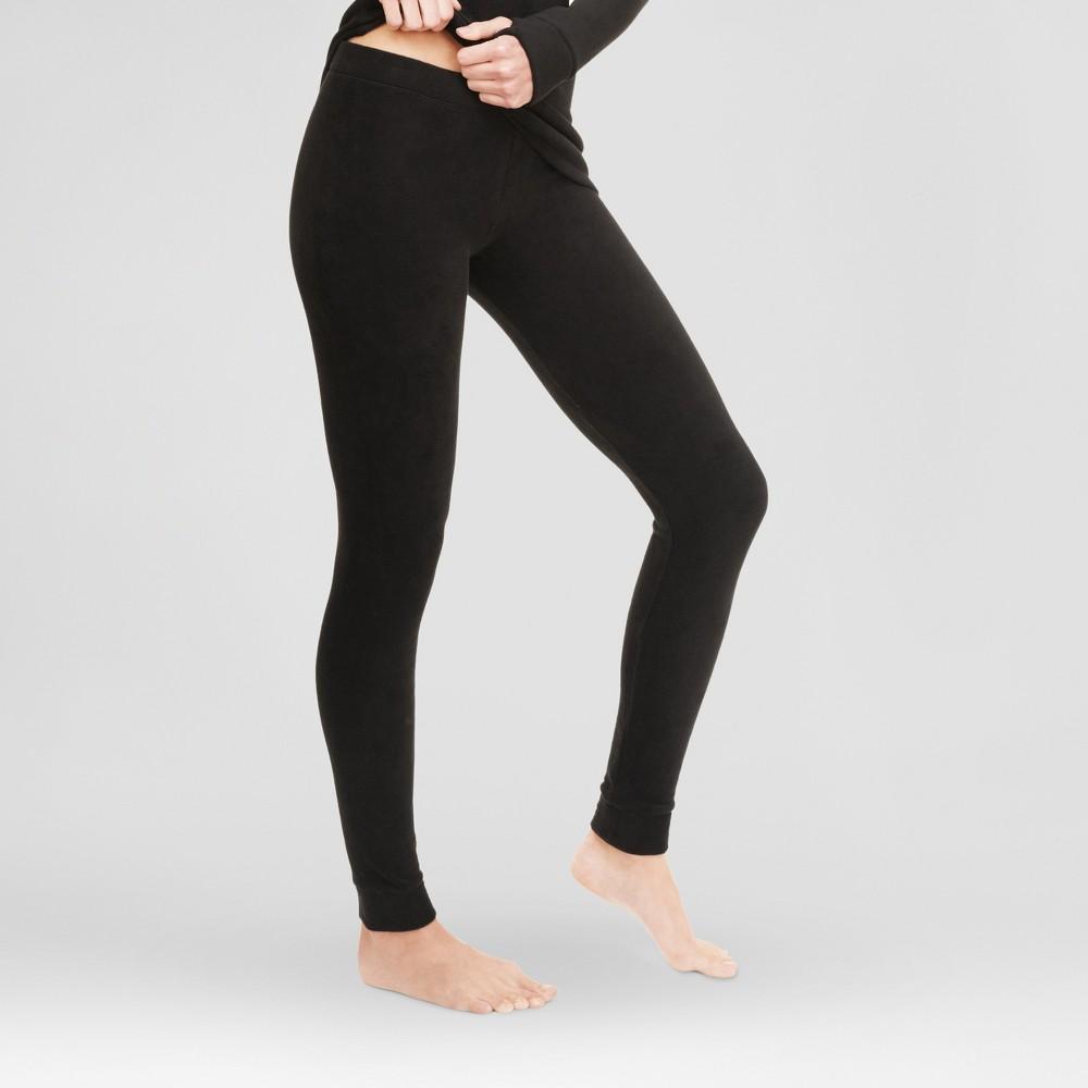 Warm Essentials by Cuddl Dudds Womens Stretch Fleece Leggings Black Xxl