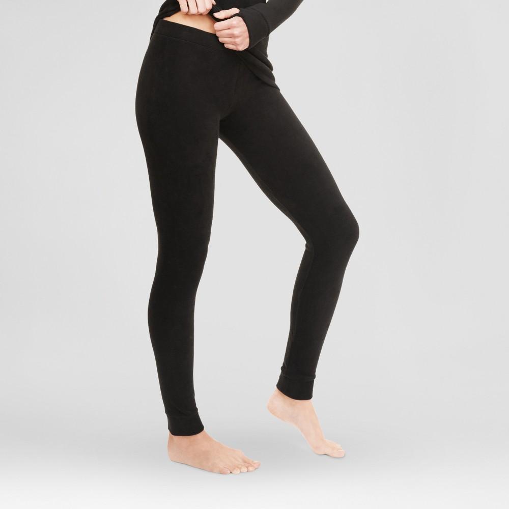 Warm Essentials by Cuddl Dudds Womens Stretch Fleece Leggings Black XL