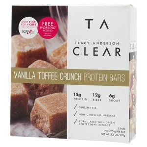 Tracy Anderson Vanilla Toffee Crunch Protein Bars - 5 Count