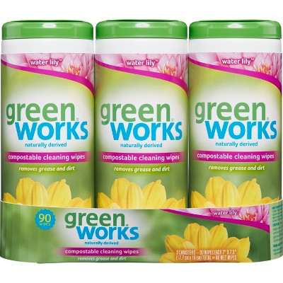 Green Work ® Water Lily Cleaning Wipes 90 Count