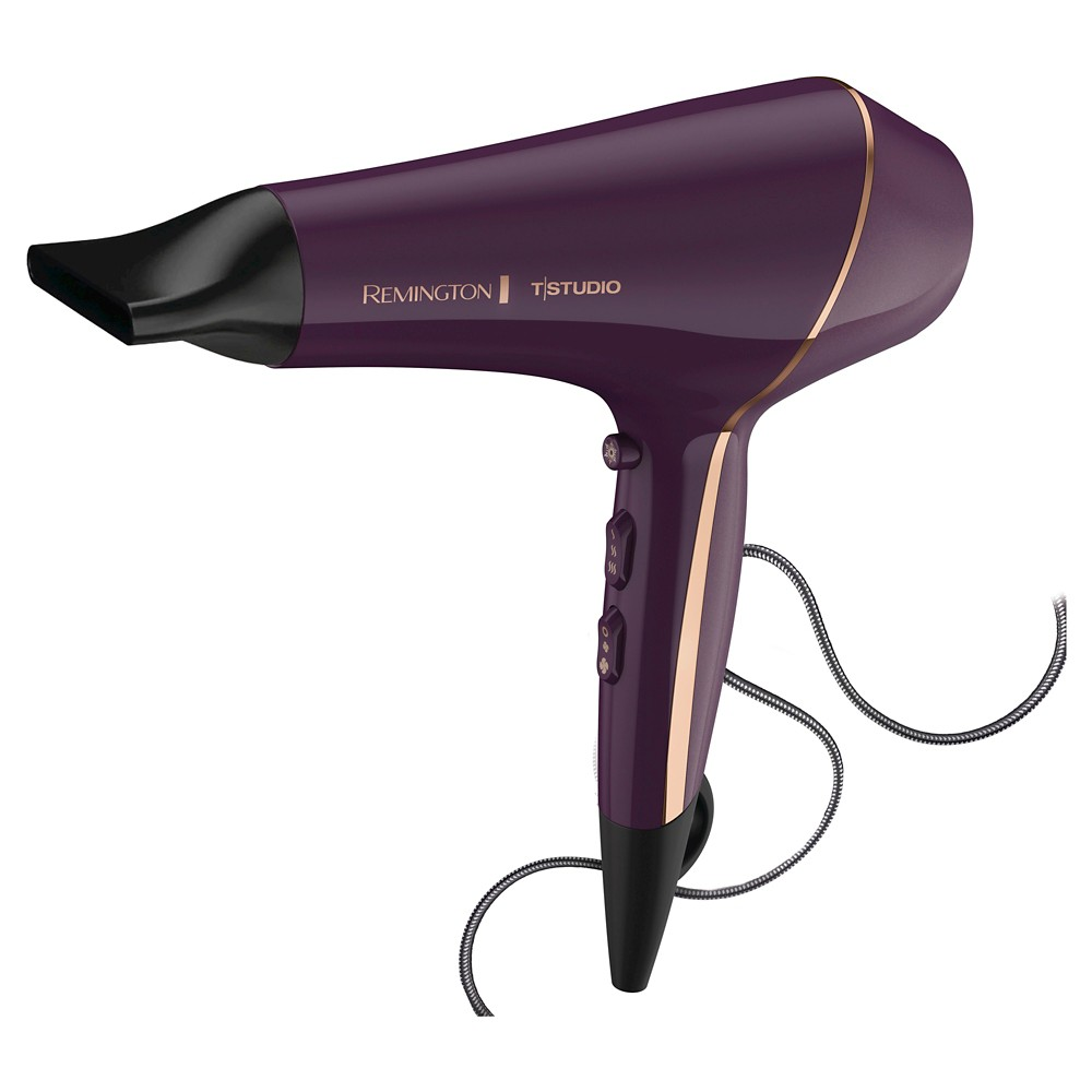 Remington T|Studio Thermaluxe Hair Dryer, Pink