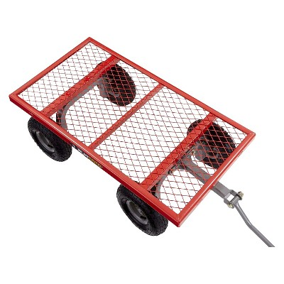 gorilla carts steel utility cart with removable sides and pneumatic tires 800pound capacity - Pneumatic Tires