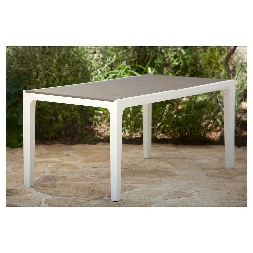 Harmony Indoor Outdoor Modern Patio Dining Table Cappuccino