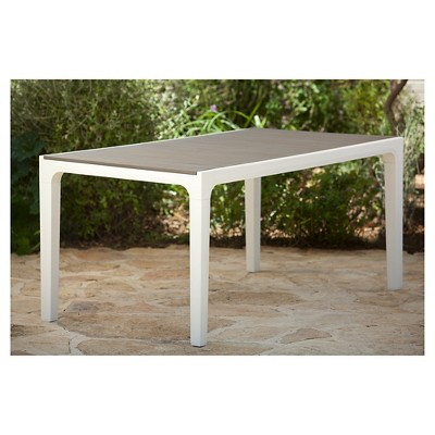 Harmony Indoor/Outdoor Modern Patio Dining Table   Cappuccino   Keter