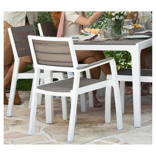 Harmony Modern Outdoor Patio Dining Armchair Cappuccino