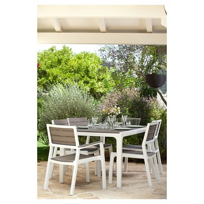 Harmony 2pk Modern Outdoor Patio Dining Armchair   Cappuccino   Keter