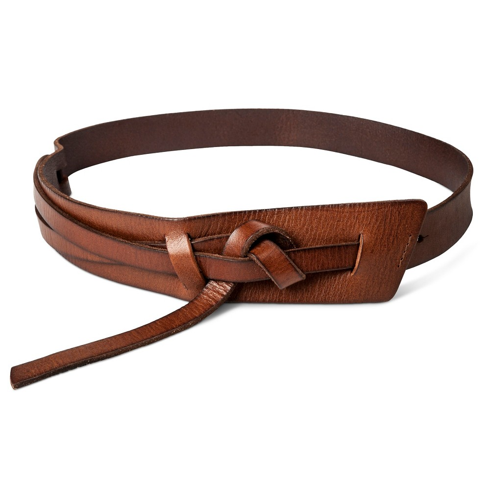 Womens Wide Messy Knot Belt Brown L - Mossimo Supply Co.