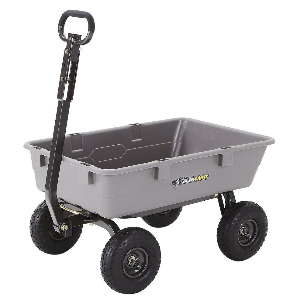 Gorilla Carts Poly Garden Dump Cart with Steel Frame and ...