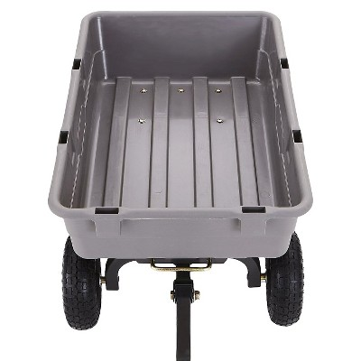 gorilla carts poly garden dump cart with steel frame and pneumatic tires 800pound capacity - Pneumatic Tires