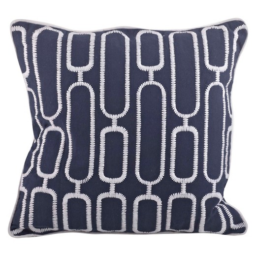 Navy Blue Throw Pillows Target : Navy Blue Stitched Design Throw Pillow (18