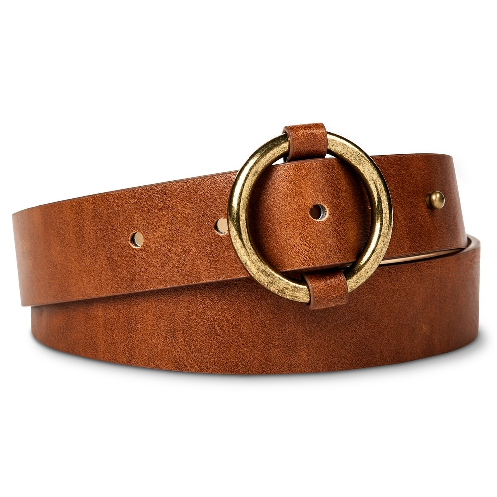 Womens Belt with Ring Buckle Tan S - Mossimo Supply Co., Brown
