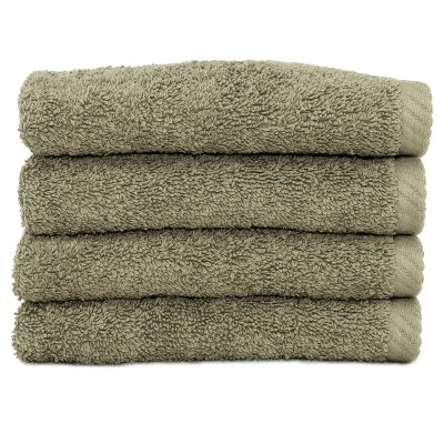 Soft Twist Washcloths 4pc Light Olive - Linum Home Textiles®
