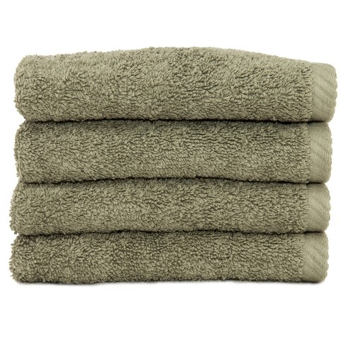 Soft Twist Washcloths 4pc Light Olive - Linum Home Textiles® - image 1 of 1