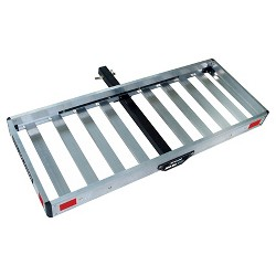 Tricam Hitch-Mounted Aluminum Cargo Carrier, 500-Pound Capacity, 50-Inch by 20-Inch Platform