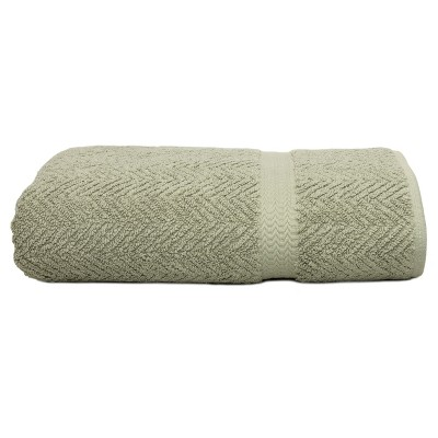 Herringbone Bath Towels Light Olive - Linum Home Textiles®
