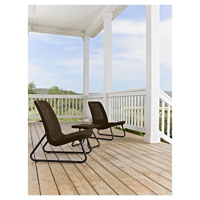 rio 3piece resin patio seating set keter - Resin Patio Furniture