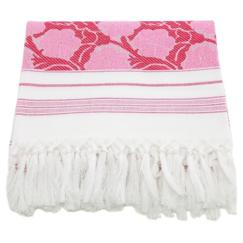 Flowers For All Beach Towel Pink White Target