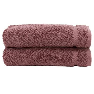 Herringbone Hand 2pc Towels Sugar Plum - Linum Home Textiles®