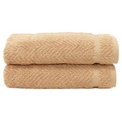 Herringbone Hand 2pc Towels Warm Sand - Linum Home Textiles®