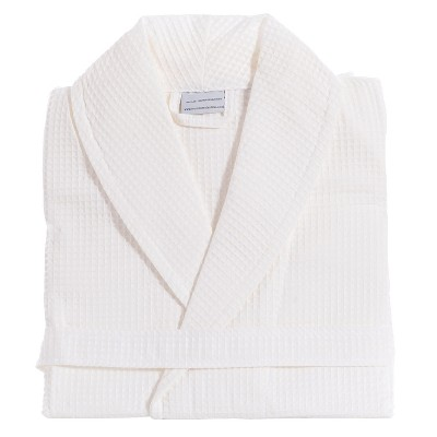 Waffle Weave Bathrobe - White (Small/Medium)- Unisex - Linum Home