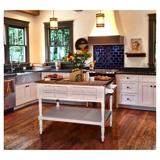 shannon small kitchen island wood/light distressed linen base with