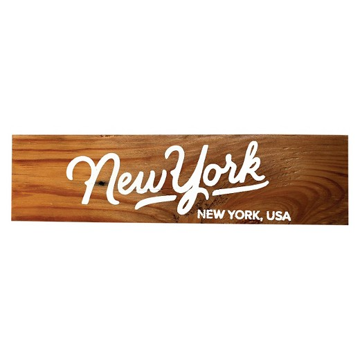 Scoutmob Reclaimed Wood Sign Wall Art New York Target