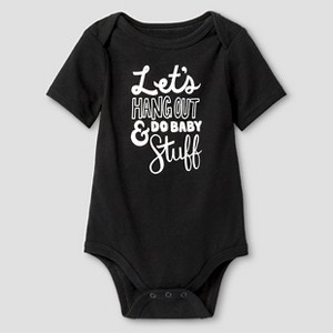 Baby Short-Sleeve Hang Out Bodysuit Baby Cat & Jack - Ebony 12M, Infant Boy