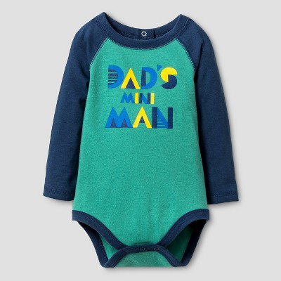 Baby Boys' Long Sleeve Mini Man Bodysuit - Cat & Jack™ Green NB