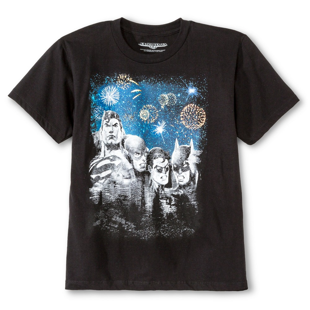 Boys Justice League Rushmore Graphic T-Shirt - Black M