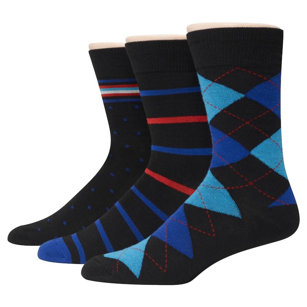 Mens Hanes Premium 3Pack Dress Socks - Multi-Colored 6-12