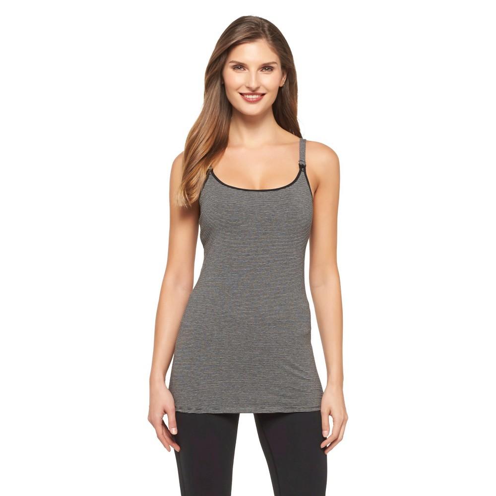 Womens Nursing Cotton Cami, Size: Xxxl, Dark Gray Stripe