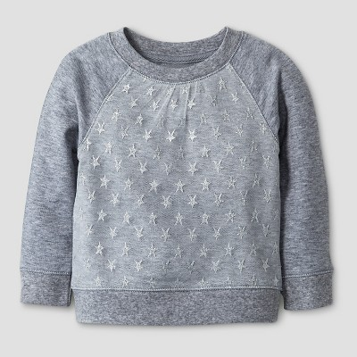 Baby Girls' Sweatshirt Cat & Jack™ - Gray 18M