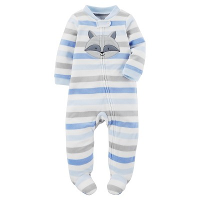Just One You™ Made by Carter's® Baby Boys' Blue Stripe Raccoon Sleep N' Play 3M