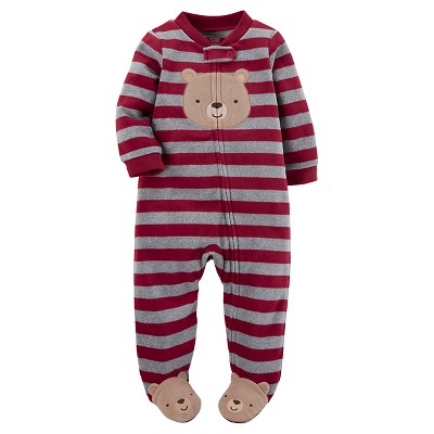 Just One You™ Made by Carter's® Baby Boys' Red Stripe Bear Sleep N' Play 3M