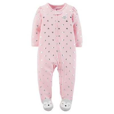 Just One You™ Made by Carter's® Baby Girls' Pink Heart Sleep N' Play - 3M