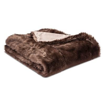 Brown Faux Fur Throw Blanket (50 X60 )- Threshold™