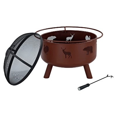 Crosley Round Fire Pit - Clay