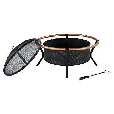 Crosley Round Fire Pit - Black & Copper