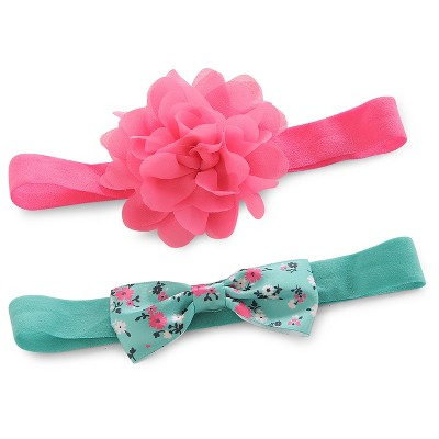 Just One You™ Made by Carter's® Baby Girls' 2pk Rosette and Bow Headwrap Set