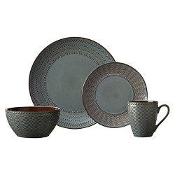 Pfaltzgraff Expressions® Sullivan 16pc Dinnerware Set Glazed Pattern Gray