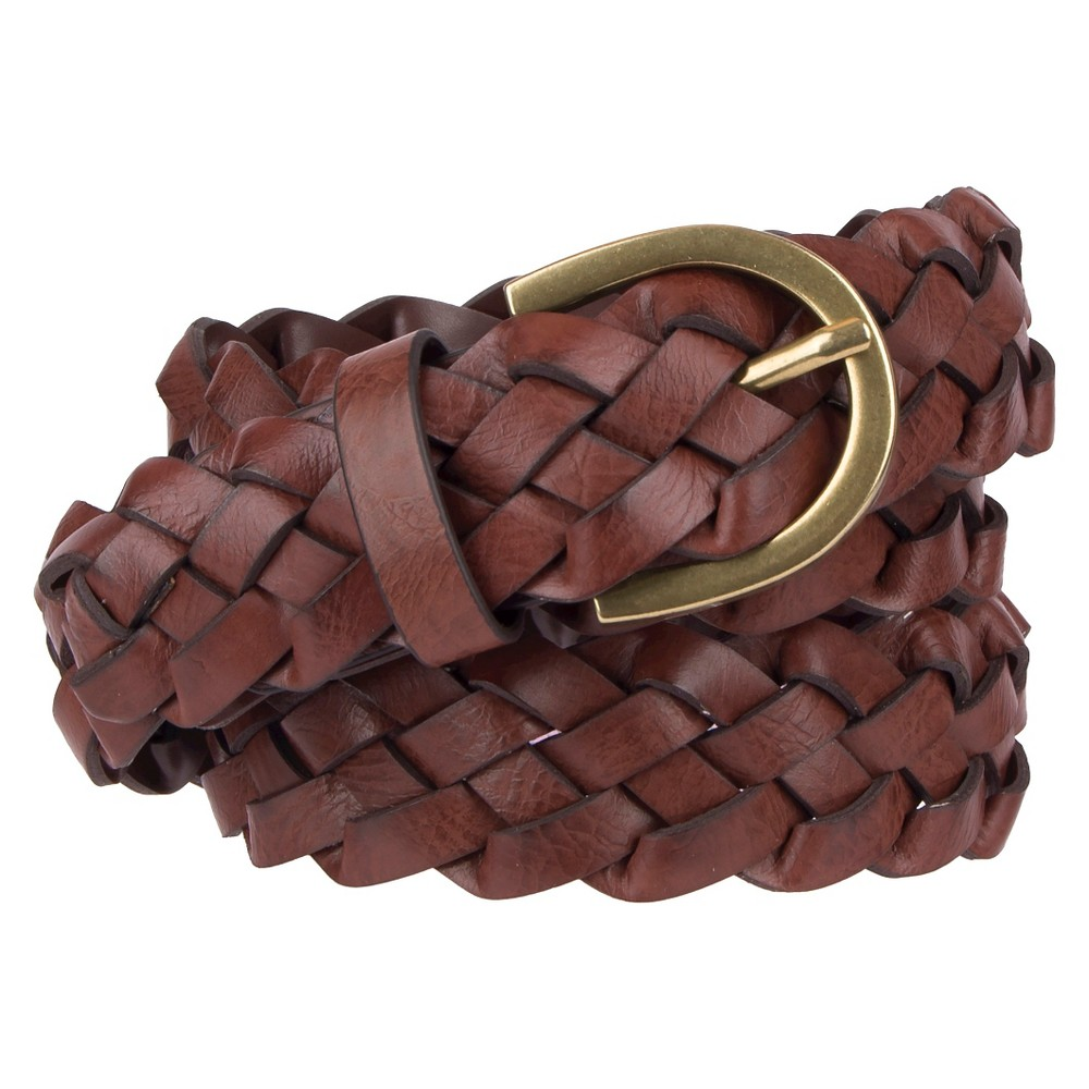 Womenss Braided Belt Brown L - Mossimo Supply Co.