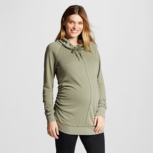 Maternity Cowl Tunic Olive (Green) L - Liz Lange for Target, Women