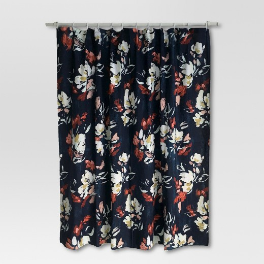 Floral Print Shower Curtain Blue   Threshold Shower Curtain   Threshold Bath   Target. Orange Shower Curtain Liner. Home Design Ideas