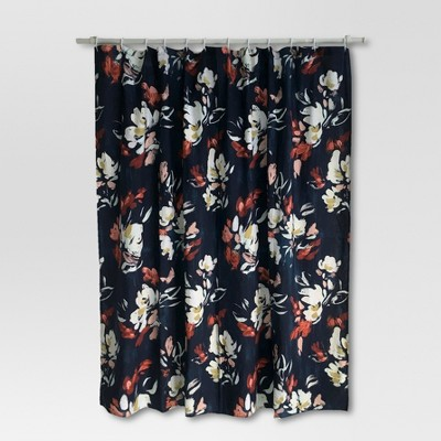 Floral Print Shower Curtain ...