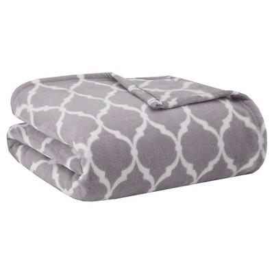 Bed Blanket Ogee Full/Queen Gray