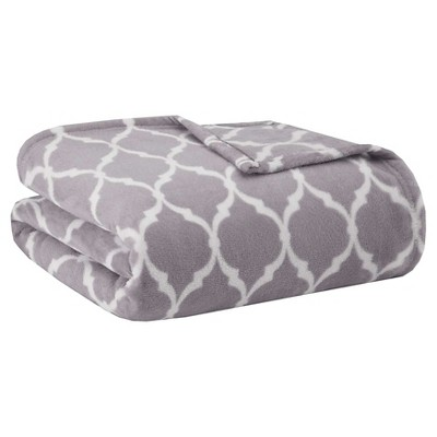 Bed Blanket Ogee King Gray