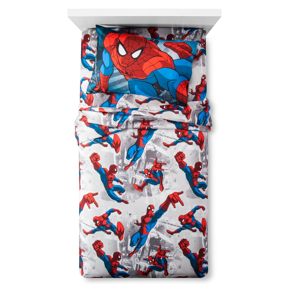 Spider-Man Sheet Set (Twin), Red